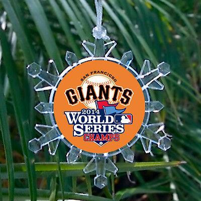 San Francisco Giants 2014 World Series Snowflake Holiday Christmas Tree Ornament (Giant Snowflakes)