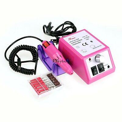 Pink Manicure Pedicure Electric Drill Acrylic Nail Art Pen Machine Set Kit