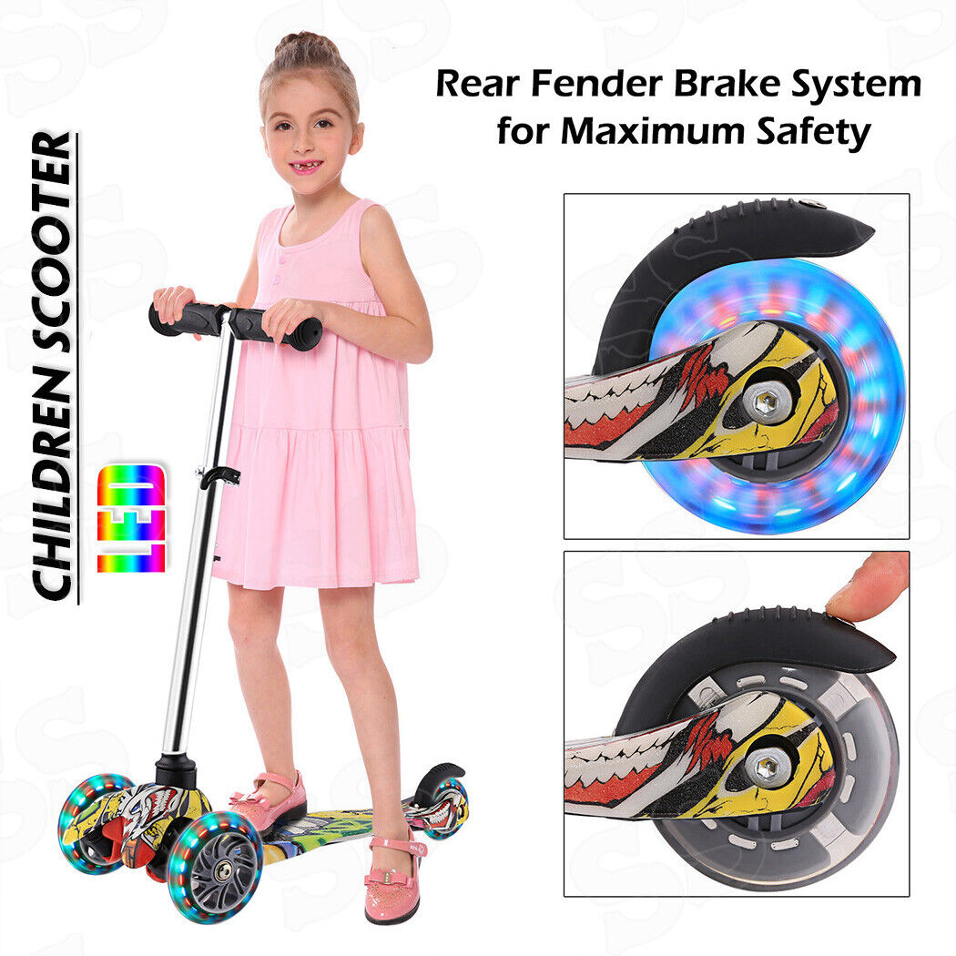 Kids Scooter Deluxe for Age 3-17 Adjustable Kick Scooter w/