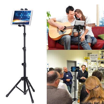 "Floor Stand Tripod Holder Mount Portable 360 Degree Rotating fr 4-12"" Ipad Phone"