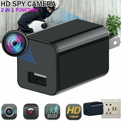 HD 1080P Mini Charger Spy Camera Camcorder Hidden DVR Loop Record Security Cam