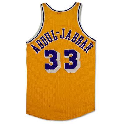7de8395ca11 Kareem Abdul-Jabbar 1980-85 Game Worn Lakers Jersey Mears A9.5 + 76ers  Letter!