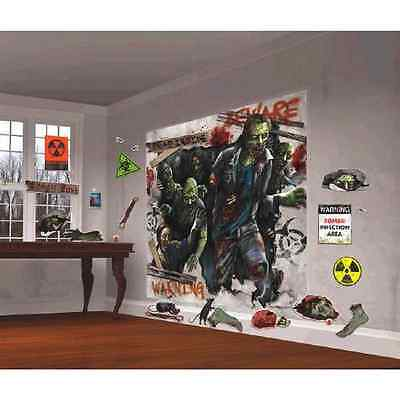 Zombie Haunted House Carnival Halloween Party Scene Setters Wall Decorating Kit (Carnival Scene Setters Halloween)