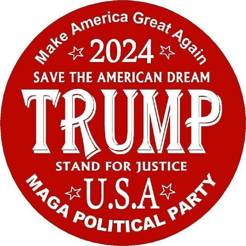 "TRUMP MAGA POLITICAL PARTY 2024  3"" Pin-Back BUTTONS Pin"