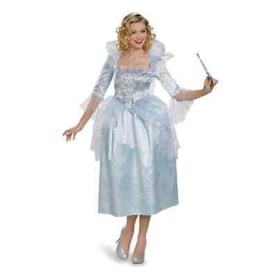 Fairy Godmother Disney Cinderella Fancy Dress Up Halloween Deluxe Adult Costume](Fairy Godmother Halloween)