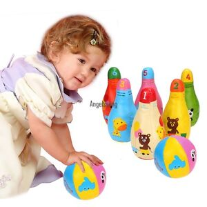 Arshiner Baby Motorikspielzeug Bowling set Babyspielzeug Kegelspiel Ballspiel