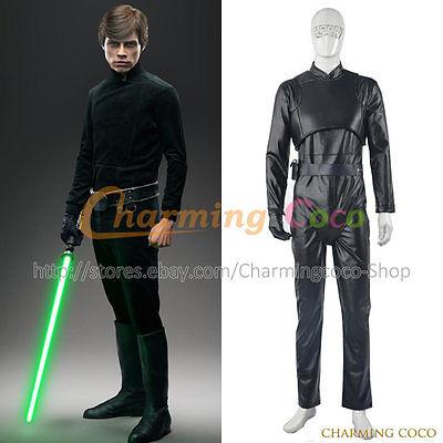 Star Wars Cosplay Luke Skywalker Kostüm Party einheitliche Overall schwarz neues