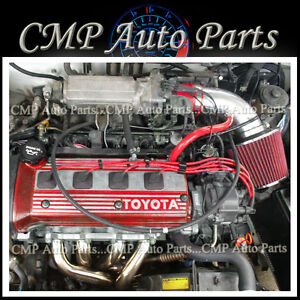 toyota paseo intake red 1992 1999 toyota paseo 1 5l 4 cycl engine air intake induction kitsystems
