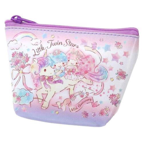 Japan Sanrio Mini Pouch Key Bag Makeup Bag Zipper - Little Twin Stars