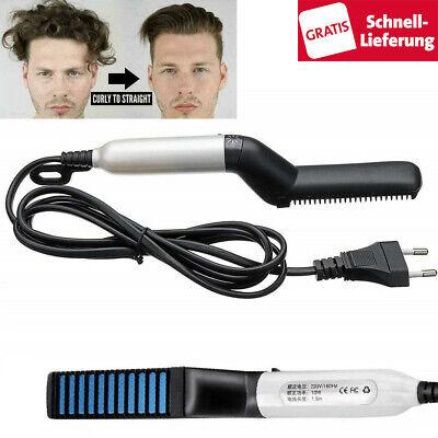 Multi-Styler Haarglätter Bürste Lockenbürste Glätteisen Elektrisch Bart Haarkamm Lockenstäbe Glätteisen