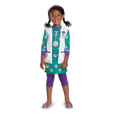 Disney Junior Doc McSuffins Doc Pet Vet Girl's Toddler Halloween Costume 3T-4T
