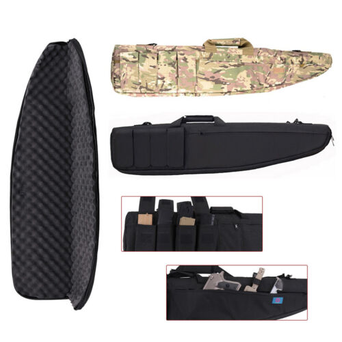 Padded Hunting Gun Rifle Gun Case Cover Soft Bag Backpack Ca