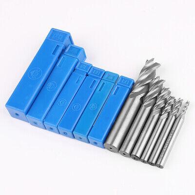 6pcs Hss Cnc Cutter Tools Drill Bit 12-18 For Carbon Metal Steel Milling Us