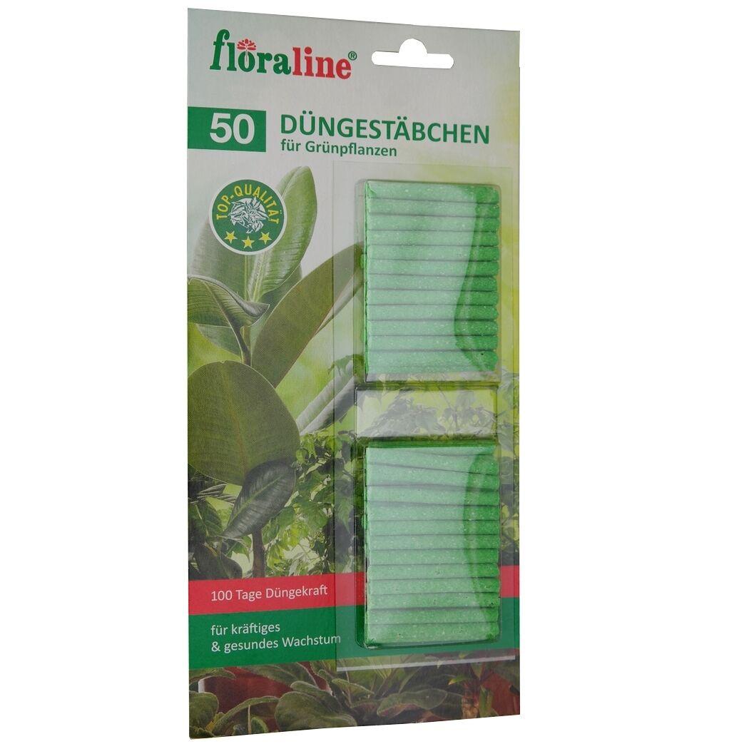 (0,03€/1St.) Floraline Düngestäbchen 50 St. für Grünpflanzen Dünger 100 Tage