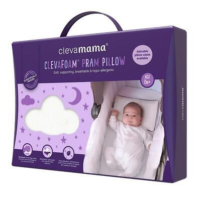Clevamama Clevafoam Unterstützt Baby Pram Kissen - Geeignet ab Geburt