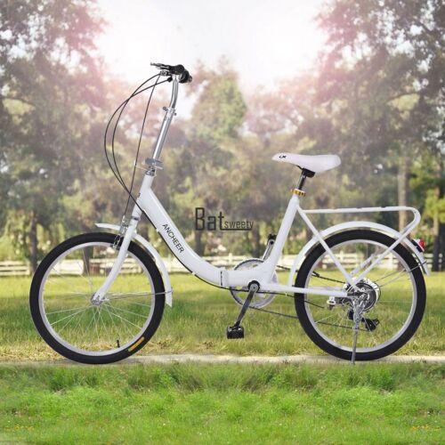 20 Folding Bike 7 Speed Bicycle Fold Storage School Sport City Commuter