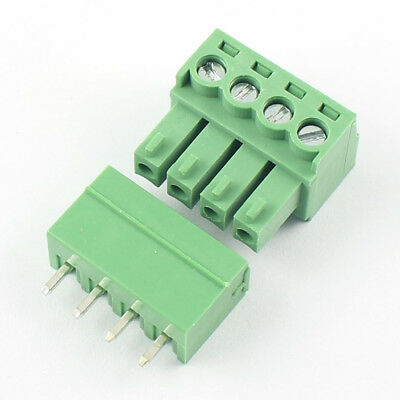 10pcs 3.81mm Pitch 4 Pin Straight Screw Pluggable Terminal Block Plug Connector