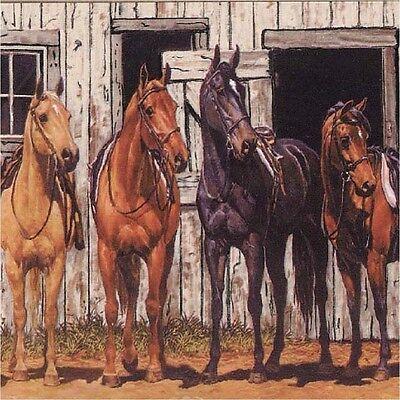 HORSES READY TO RIDE WESTERN HOME DECOR    COASTERS SETS U PICK SET SIZE