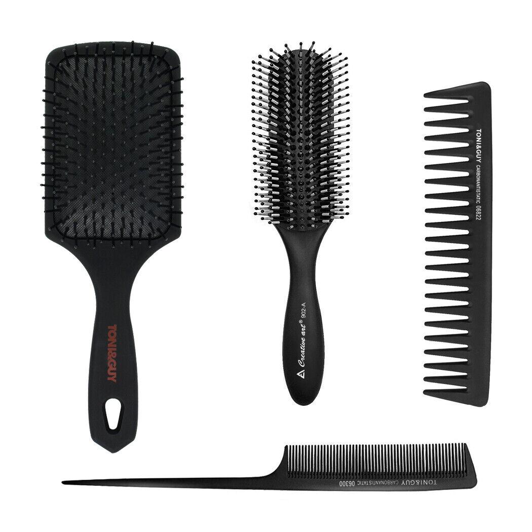 4PCS Paddle Hair Brush Detangling Comb Cushion Massage Scalp Stylist Women Men