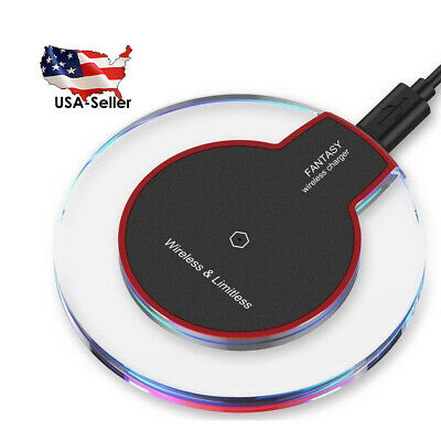 UNIVERSAL Qi Wireless Fast Charger Pad Charging Dock Apple iPhone Samsung Galaxy ()