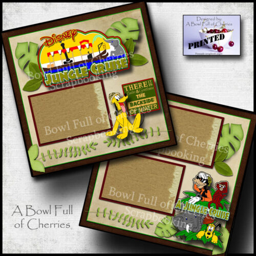 DISNEY JUNGLE CRUISE ~ 2 premade scrapbook pages printed layout BY CHERRY #0148