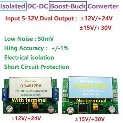 Dual Isolated Power Dc Dc Boost-buck Converter 5-32v To -12v 15v Audio Speaker