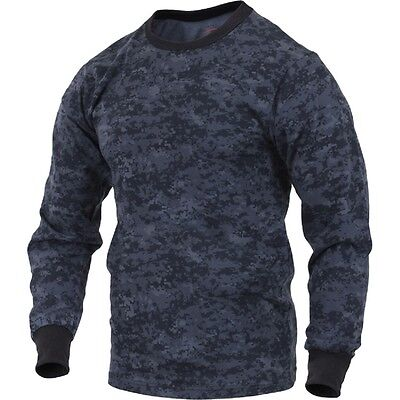 Midnite BLUE Digital Camo LONG SLEEVE T-Shirt US Navy Army USCG USAF Police - Army Digital Camo T-shirt