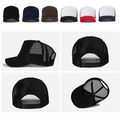 Unisex Mens Womens Plain Blank Solid Color Summer Mesh Baseball Cap Trucker Hats Blank Trucker Hats
