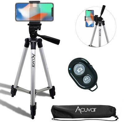 "Acuvar 50"" inch Smartphone Tripod & Wireless Remote For iPhone Xs Max Xr 8 7 6+"