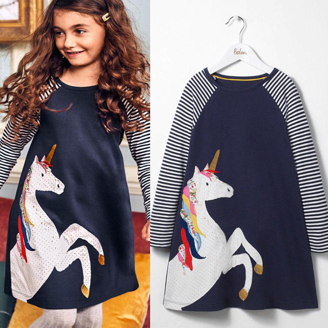 Mädchen Kinder Langarm Prinzessin Kleider Kostüm Abendkleid Partykleid Festkleid
