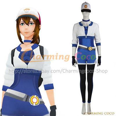 Pokémon GO Game Female Blue Uniform Cosplay Costume Halloween Women Uniform New](Pokémon Costumes)