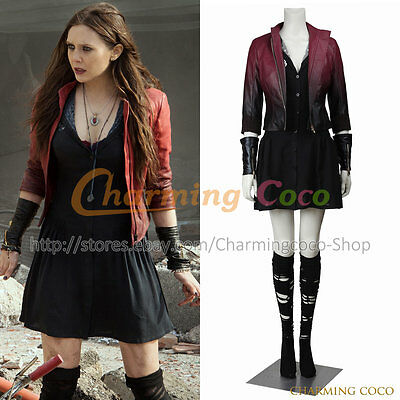 Avengers: Alter von Ultron Wanda Scarlet Witch Cosplay Kostüm Lady Outfit
