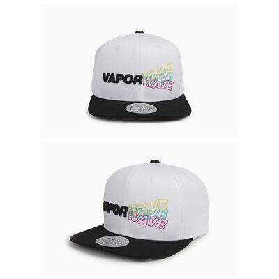 24672c01aef39 Unisex Mens Flipper Vaporwave Casual Baseball Cap Snapback Hip-hop Hats  White