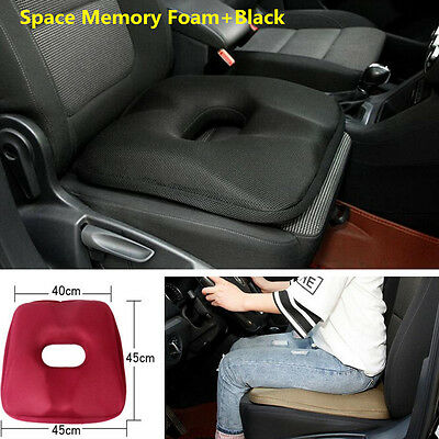 Memory Foam Car Seat Cushion Cover Protector Mat Pad Lower Hip Hemorrhoid Health