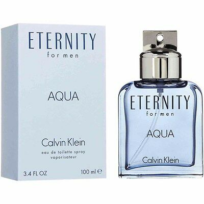 Eternity for Men Aqua Cologne Perfume by CALVIN KLEIN 3.4 oz 100ml EDT Spray New