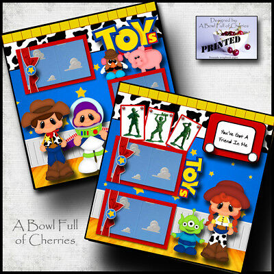 TOY STORY ~ toys ~ movie ~ 2 premade scrapbook pages paper printed layout - Toy Story Paper