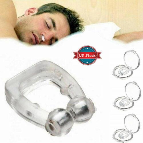 4pc silicone magnetic anti snore nose clip