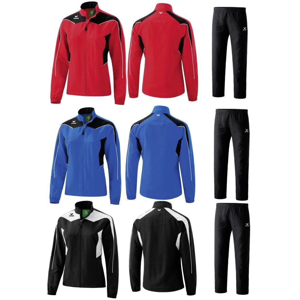 Erima Shooter Damen Sportanzug Jogginganzug Präsentationsanzug schwarz rot blau