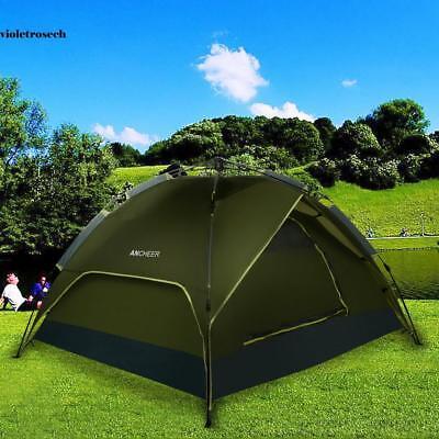 Wasserdicht Army-Grün 4 Personen POP-UP Campingzelt Outdoor Familienzelt Topsell