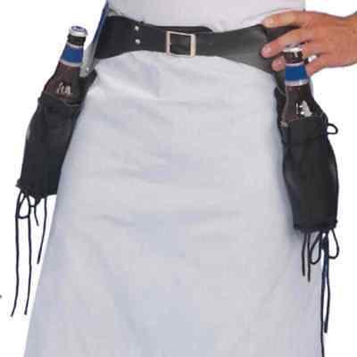 Bartender Bottle Holster Belt Wild West Cowboy Halloween Adult Costume Accessory - Wild West Bartender Costume