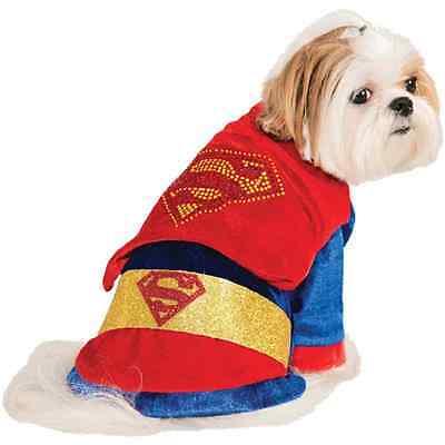 Superman Rhinestone Cape DC Comics Superhero Halloween Pet Dog Cat - Dc Comics Superman Pet Kostüm