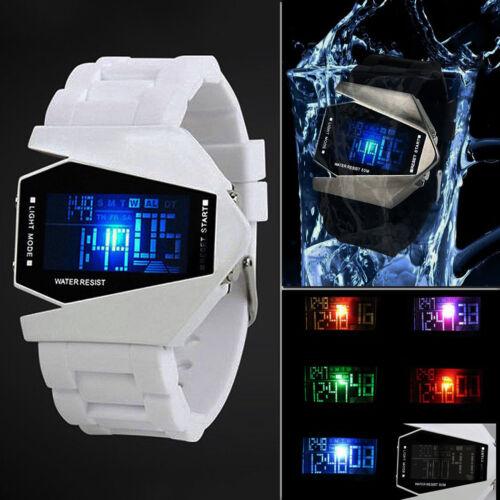 $2.28 - Fashion Luxury Men's Sport Black Stainless Steel Digital LED Wrist DIAL Watch