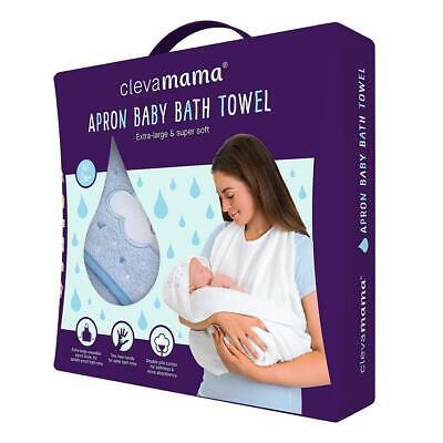Clevamama Baumwolle Schürze Baby Badetuch (Blau) - Geeignet Für Neugeborene