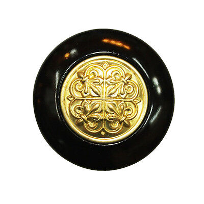 15 pcs Gold Black 36mm Knobs Cupboard Cabinet Drawer Pull Handles BS-2995