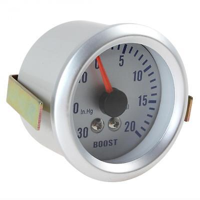 """2"""" 52mm 0~30in.Hg / 0~20PSI Auto Car Turbo Boost Gauge Meter Blue LED US Stock"""