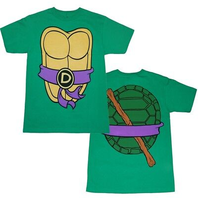 Authentic Teenage Mutant Ninja Turtles TMNT Costume Adult T-shirt Tee Donatello  - Authentic Ninja Costume