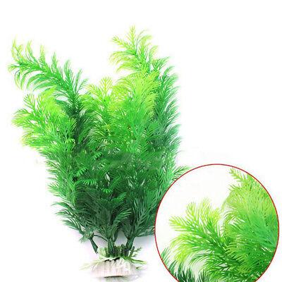 "11"" High Aquarium Underwater Grass Fish Tank Green Plastic Plant Ornament Sale"