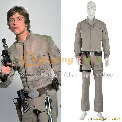 Star Wars Luke Skywalker Cosplay Costume Daily Suit Cool Halloween Party Uniform - Cool Halloween Suits