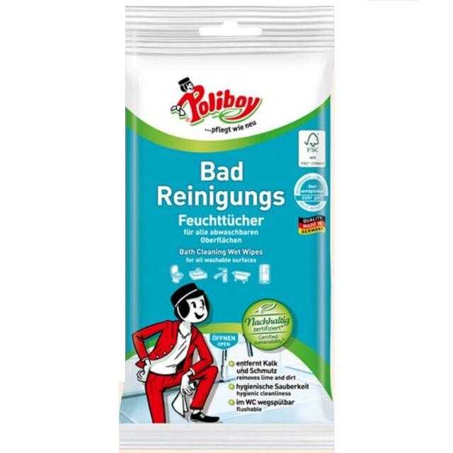Poliboy Bad Reinigungs Feuchttücher 32 Stck. (0,12€/Stck.) Kalk WC Hygienisch