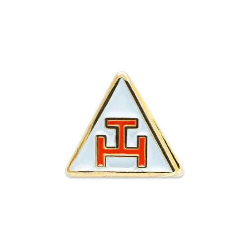 Royal Arch Triangle Masonic Lapel Pin - [White & Red][3/8